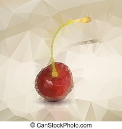 Polygonal red cherries