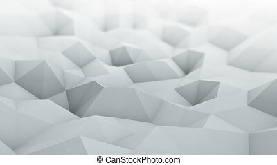 polygonal, render, surface, onduler, seamles, blanc, boucle, 3d
