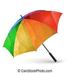 polygonal, robiony, parasol, barwny, skutek