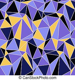 Polygonal seamless pattern of triangles. Vivid holographic colors. Futuirstic technology design background