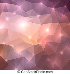 Polygonal shine background