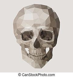 polygonal, skull., vektor