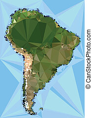 Polygonal South America Map