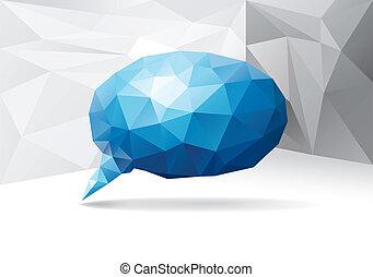 Polygonal speech bubble
