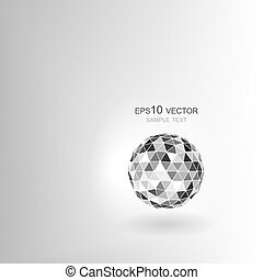 Polygonal sphere with shadow.