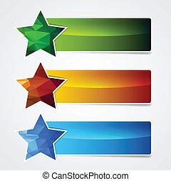 polygonal star banner