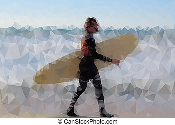 Polygonal surfer