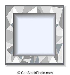 polygonal, szary, ułożyć, tło, fotografia