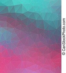 polygonal, tło., abstrakcyjny