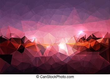 polygonal, tło, abstrakcyjny