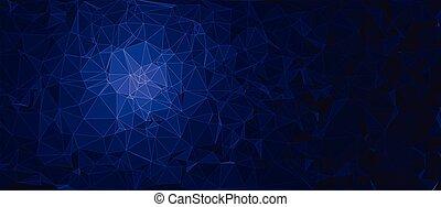 polygonal, tło, wektor, abstrakcyjny