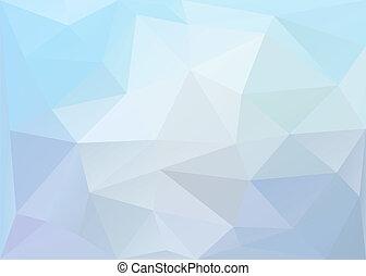 polygonal, tło., wektor, eps10.