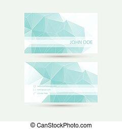polygonal, tarjeta, mesh., plantilla, empresa / negocio, ...