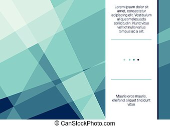 Polygonal template - Vector illustration of polygonal flyer ...