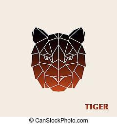 Polygonal tiger head.