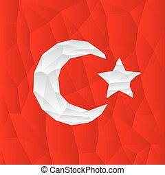 polygonal turkish flag