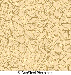 Polygonal uncoursed stone wall texture. - Polygonal...