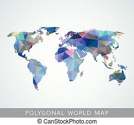 polygonal, världen kartlägger