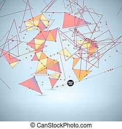 polygonal, vecteur, résumé