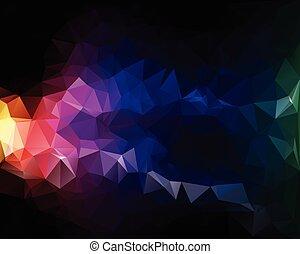 polygonal, vector, kleurrijke, achtergrond, voorbeelden, ...