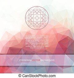 polygonal, vector, plein, achtergrond