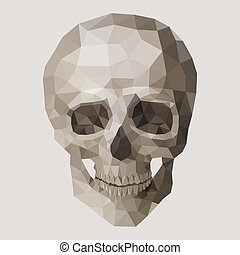 Polygonal vector skull.