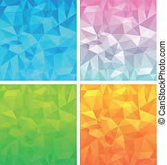 polygonal, vetorial, jogo, fundo