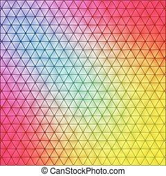polygonal, vibrant, fond