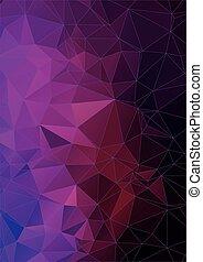 polygonal, vibrant, fond, violet