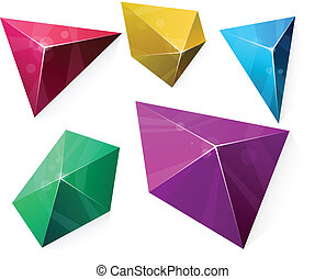 Polygonal vibrant pyramid.