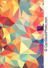 polygonal, vibrant, vecteur, mosaïque, arrière-plan.