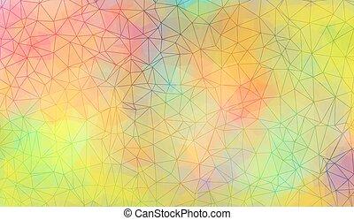 polygonal, vibrante, fundo