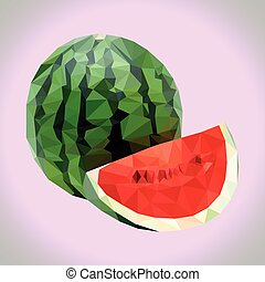 Polygonal watermelon.