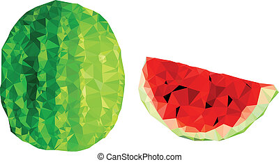 Polygonal Watermelon Illustration