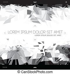 polygonal, web, abstraktes design, schablone