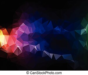 polygonal, wektor, barwny, tło, szablony, mozaika, twórczy, ...