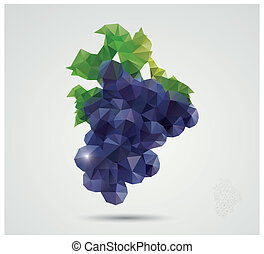 polygonal, winogrona