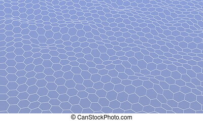polygone, coloré, modèle, résumé, onduler, fond, surface., 3d