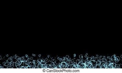 polygone, &, flotteur, space., particules, scifi