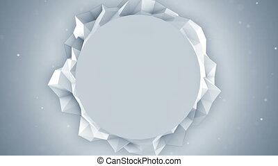 polygone, render, animation, blanc, bannière, boucle, 3d