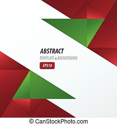 polygons design template red and green color