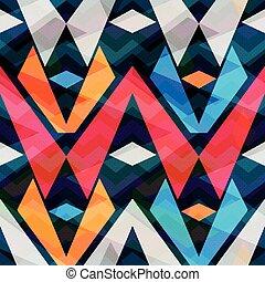 polygons on a dark background Seamless geometric pattern