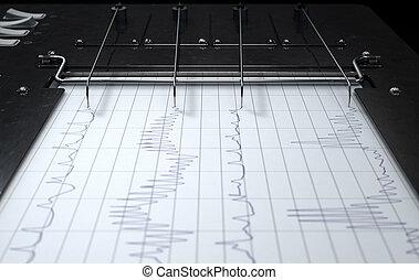 Polygraph Lie Detector Machine - A 3D render of a polygraph ...