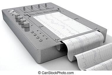 Polygraph Lie Detector Machine - A 3D render of a polygraph...