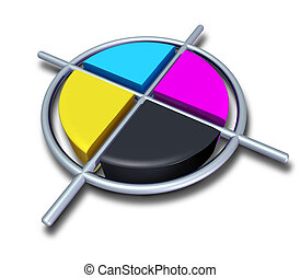 Polygraphic Cross - Polygraphic cmyk colors with chrome...