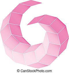 polyhedral, figura, de, un, estrella, con, gradiente,...