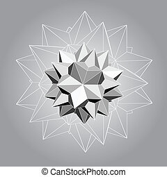Polyhedron,abstract background