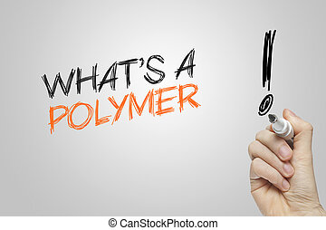 polymeer, wat is, hand het schrijven