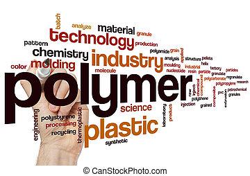 polymeer, woord, wolk