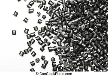 polymer, metallisk, kåda, grå
